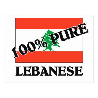 100 Percent LEBANESE Postcard