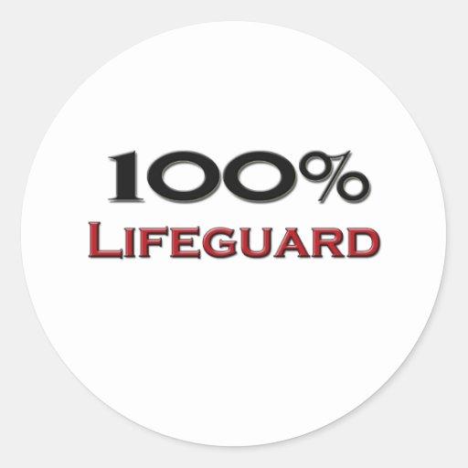 100 Percent Lifeguard Sticker