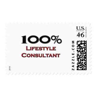 100 Percent Lifestyle Consultant Postage Stamp