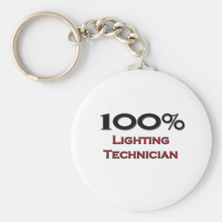100 Percent Lighting Technician Keychain