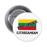 100 Percent LITHUANIAN Buttons