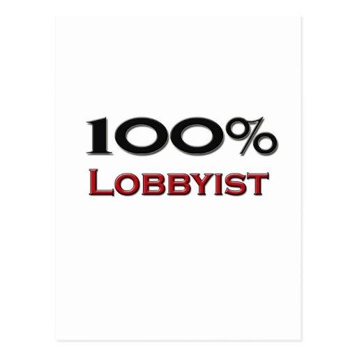 100 Percent Lobbyist Post Card