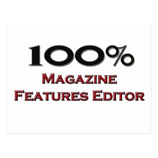 100 Percent Magazine Features Editor Postcard