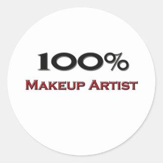 100 Percent Makeup Artist Classic Round Sticker