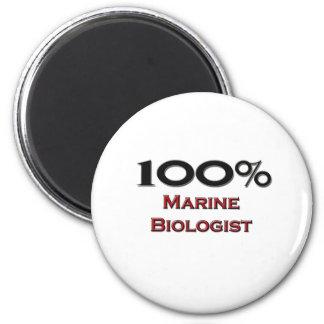 100 Percent Marine Biologist Refrigerator Magnets