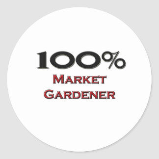 100 Percent Market Gardener Stickers