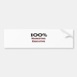 100 Percent Marketing Executive Car Bumper Sticker