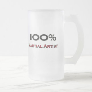 100 Percent Martial Artist Frosted Glass Beer Mug