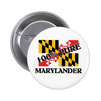100 Percent Marylander Pin