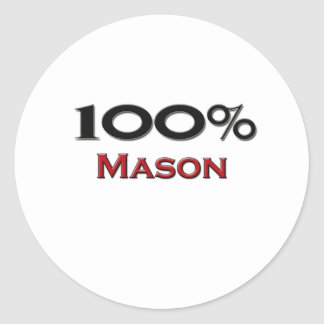 100 Percent Mason Classic Round Sticker