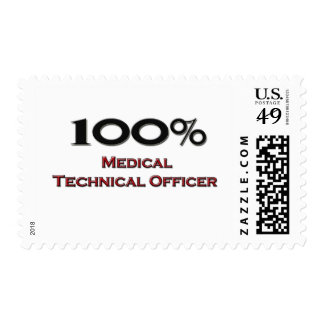 100 Percent Medical Technical Officer Postage Stamps