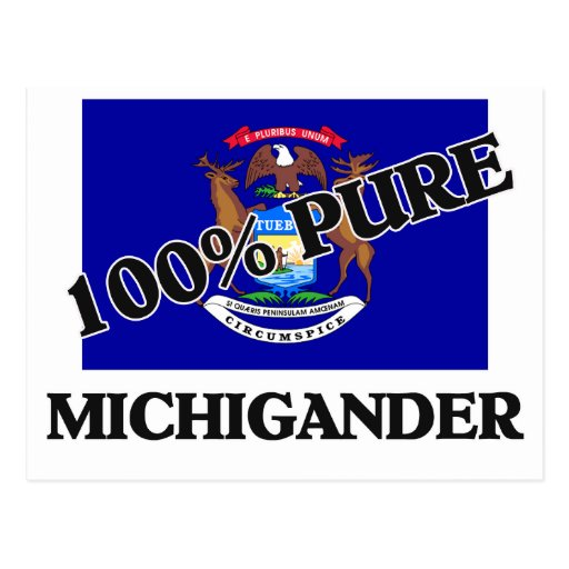 100 Percent Michigander Postcard