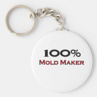 100 Percent Mold Maker Basic Round Button Keychain