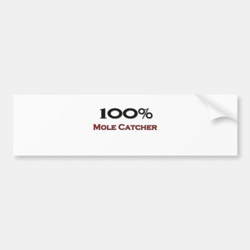100 Percent Mole Catcher Bumper Sticker