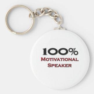 100 Percent Motivational Speaker Keychain