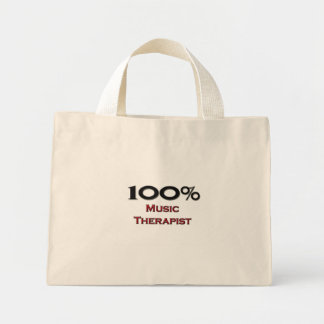 100 Percent Music Therapist Mini Tote Bag