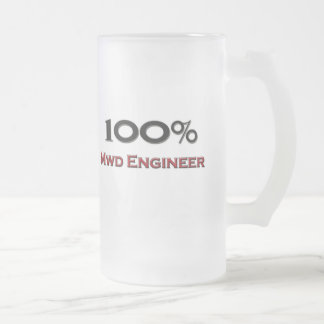 100 Percent Mwd Engineer 16 Oz Frosted Glass Beer Mug