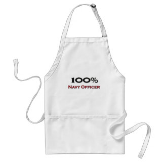100 Percent Navy Officer Adult Apron