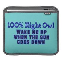 100 Percent Night Owl Sleeve For iPads
