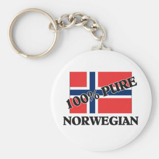 100 Percent NORWEGIAN Keychain