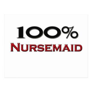 100 Percent Nursemaid Postcard