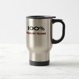 100 Percent Nursery Nurse Travel Mug