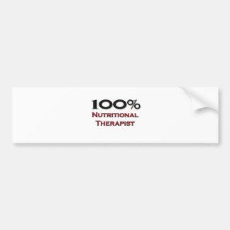 100 Percent Nutritional Therapist Bumper Sticker