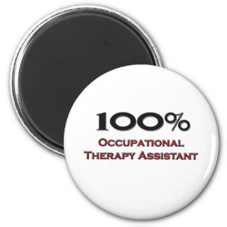 100 Percent Occupational Therapy Assistant 2 Inch Round Magnet