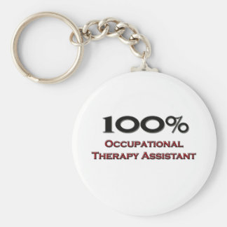 100 Percent Occupational Therapy Assistant Basic Round Button Keychain