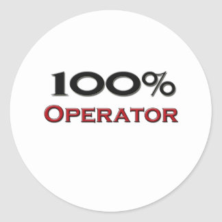 100 Percent Operator Classic Round Sticker