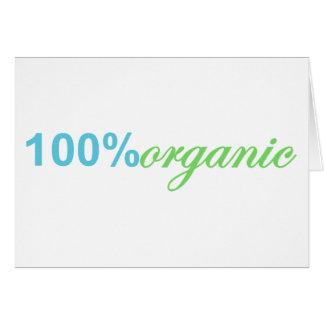100% Percent Organic Card