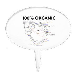 100 Percent Organic Krebs Cycle TCAC Cake Topper
