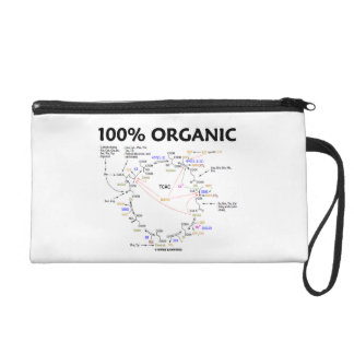 100 Percent Organic Krebs Cycle TCAC Wristlet Purse