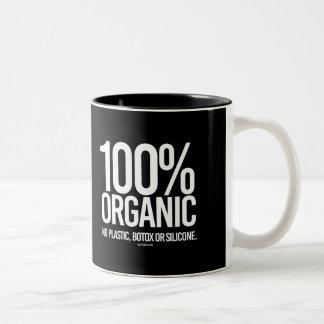 100 Percent Organic - No plastic, botox, or silico Two-Tone Coffee Mug