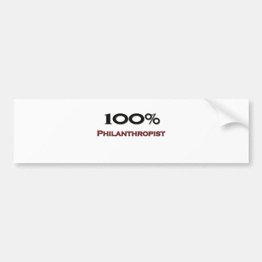 100 Percent Philanthropist Car Bumper Sticker