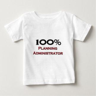 100 Percent Planning Administrator Shirts