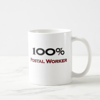 100 Percent Postal Worker Coffee Mug