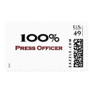 100 Percent Press Officer Postage Stamp