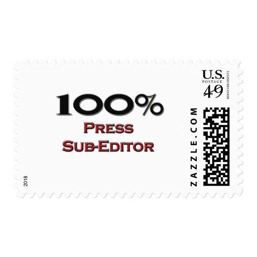 100 Percent Press Sub-Editor Stamps