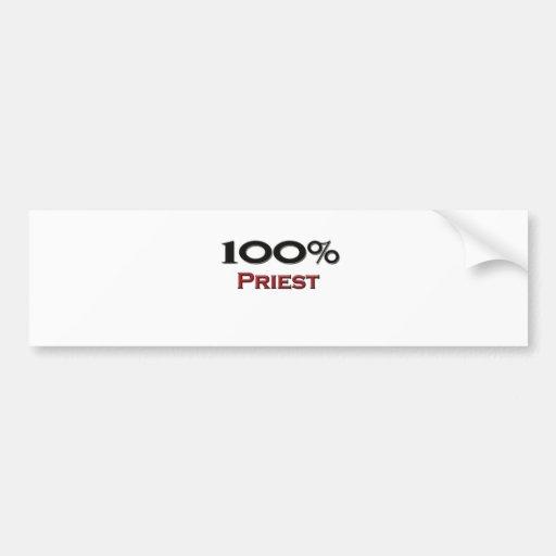 100 Percent Priest Car Bumper Sticker