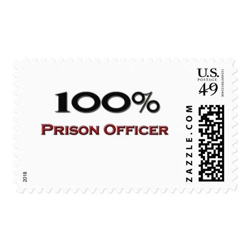 100 Percent Prison Officer Stamp
