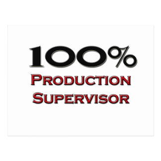 100 Percent Production Supervisor Postcard