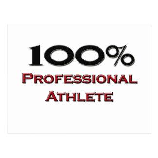 100 Percent Professional Athlete Postcard