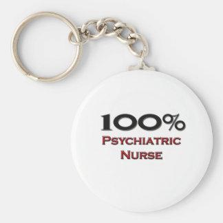 100 Percent Psychiatric Nurse Key Chain