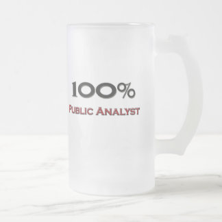 100 Percent Public Analyst Frosted Glass Beer Mug