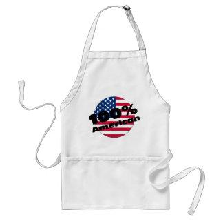 100 Percent Pure American on USA Flag Apron