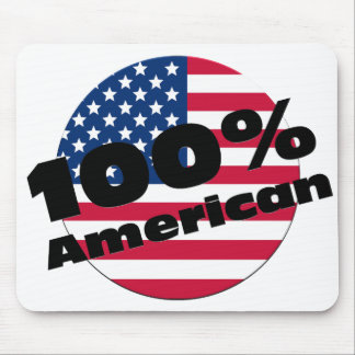 100 Percent Pure American on USA Flag Mouse Pad