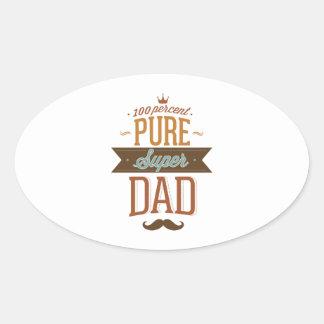 100 Percent Pure Super Dad Oval Sticker