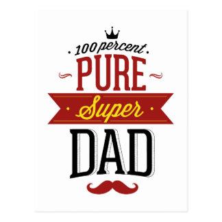 100 Percent Pure Super Dad Postcard