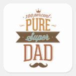 100 Percent Pure Super Dad Square Sticker